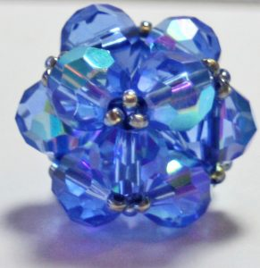 blue beaded bead